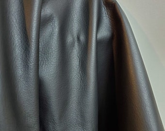 """Leather Black """"Old English"""" natural Italian Upholstery cowhide skin cowhide hide 18-25 side or 42- 46 sf soft 2.5 oz nappa NAT Leathers"""