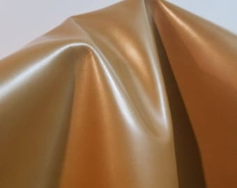 Leather 15-18 sf Champagne gold shimmer pearlized smooth nappa Cow hide skin 2.5 oz  nappa genuine for handbag craft jewelry accessories