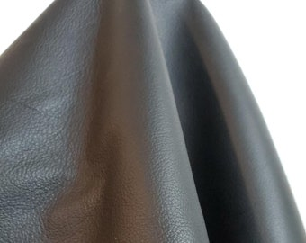 Leather 22 sq.ft Black Fullgrain Smooth Nappa 2.0 oz Italian Cowhide soft craft supply handbag upholstery Nat Leathers