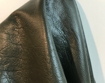 Olive Green glazed 2 tone nappa Luxury Cowhide Leather 13.25 sf about 27 x 65 inches overall skin 2.5 oz genuine cow NAT LEATHERS