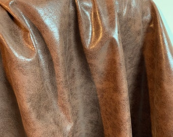 NAT Leathers One of a Kind 20 sf Imperfect Brown Shine 2.5 oz 1.0-1.2 mm cowhide for handbag craft jewelry upholstery footwear