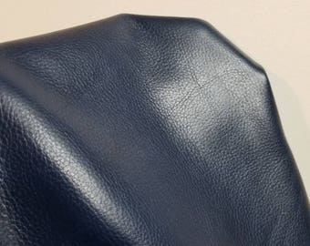 """Electric Blue Evolution 2 tone Leather Soft skin Cow hide 8"""" x 10"""" 12"""" 20"""" Italian Genuine upholstery craft cowhide 2.0-2.5 oz NAT Leathers"""