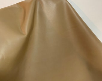 NAT Leathers 14-22 sf Khaki Smooth Nappa 2.5 oz 1.0-1.2 mm matte cowhide for handbag craft jewelry upholstery footwear