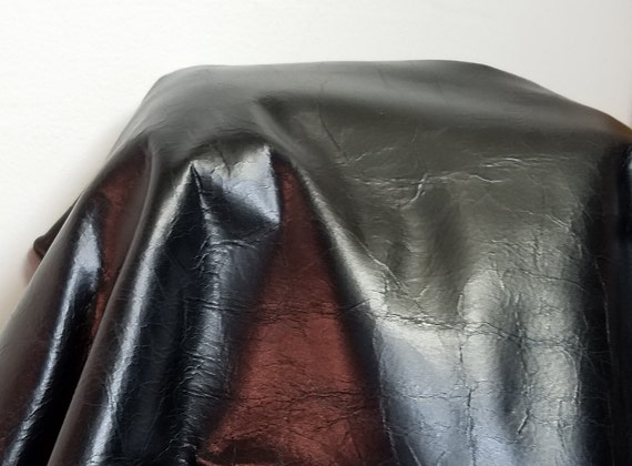 Noir Semi vitrée doux naturel peau de de de cuir vache cacher 16-22 pieds carrés. Nappa italien souple véritable d'ameubleHommes t artisanat cuirs NAT 2,5 oz 24bdfa