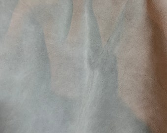 NAT Leathers One of a Kind 9 sf Gray Silky Suede 2.5 oz 1.0-1.2 mm skin for handbag craft jewelry upholstery footwear