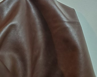 """Brown Pebbled nappa {Peta-Approved} Vegan faux leather handbag upholstery craft 0.9 mm PU Fabric 36""""x54"""" 1-5 cut by the yard NAT Leathers™"""