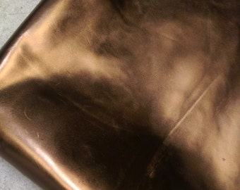 Bronze foil metallic leather piece cutting 2.5-3.0 oz Genuine leather upholstery craft handbag cowhide NAT Leathers