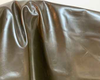 NAT Leathers 19-24 sf Dark Green Calf 2.5 oz 1.0-1.2 mm smooth matte nappa for handbag craft jewelry upholstery footwear