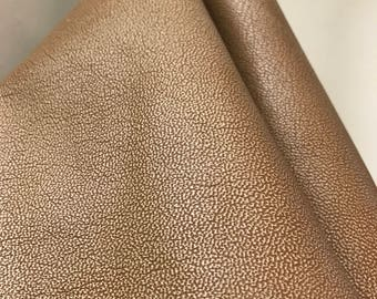 Leather Tan Cognac tumblegrain nappa leather 2.5 -3.0 oz 1.0 mm Cowhide skin topgrain by NAT Leathers 14-22 sf. choose the size you want