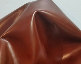 Leather 15-18 sf Pecan Bronze shimmer pearlized smooth nappa Cow hide skin 2.5 oz  nappa genuine for handbag craft jewelry accessories