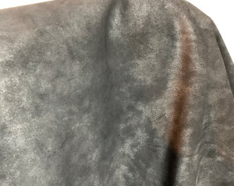 NAT Leathers One of a Kind 16 sf Metallic Pearlized Suede 2.5 oz 1.0-1.2 mm skin for handbag craft jewelry upholstery footwear