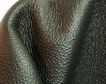 "21 sq.ft. Black Old English distressed Cowhide Upholstery grade Italian (33 ""x 55"") Soft 2.5 oz cow hide handbag NAT Leather"