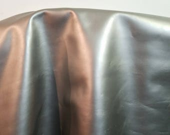 """12 inch x 12"""" cutting Silver Smooth Shiny Nappa Cowhide soft craft supply handbag upholstery Nat Leathers"""