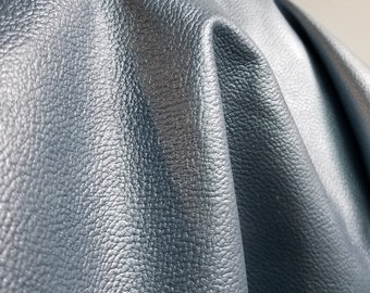 Special priced lot 18-23 sf Leather skin Blue Silver Image Crush Pearlized embossed cow leather cowhide firm 2.5 oz  NAT Leathers