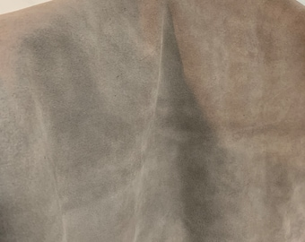 NAT Leathers One of a Kind 9 sf Taupe Suede 2.5 oz 1.0-1.2 mm skin for handbag craft jewelry upholstery footwear