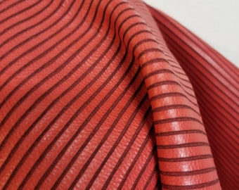 Italian Leather 18 sf skins hide Red coral snake anaconda laser cut fullgrain Cowhide Cow soft craft supply handbag upholstery NAT Leathers