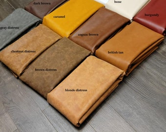 Vegan faux leather {Peta-Approved} handbag upholstery 54 inch wide fabric cut by the yard NAT Leathers™ Multiple colors