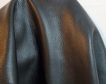 20-26 sq.ft. Black Aniline natural tumble grain soft Fullgrain 2.5 oz Nappa Cowhide upholstery craft handbag hide 2.0-2.5 oz NAT Leathers