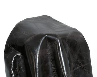 Leather 19 -24  sq.ft Gray Clash Italian 2.5 oz 1.0-1.2 mm Cow hide skin topgrain NAT Leathers craft handbag Cowhide
