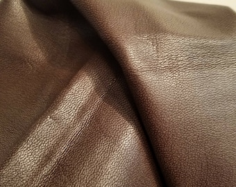 Leather 21-23 sf brown soft tumbled nappa leather Powder Pink Coral Cow hide cowhide skin 2.5 oz 1.2 mm nappa genuine NAT LEATHERS