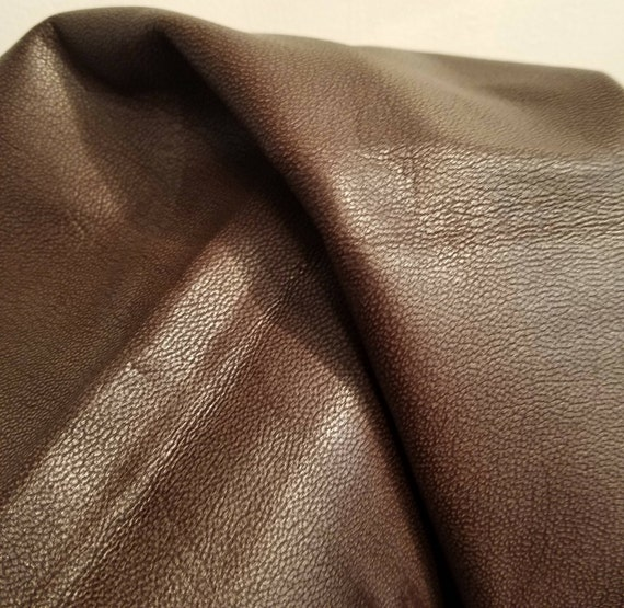"Leather Buffalo skin hide Full Grain Black Pre-Cut 15/"" By 15/"" Inches 4 oz U.S.A"