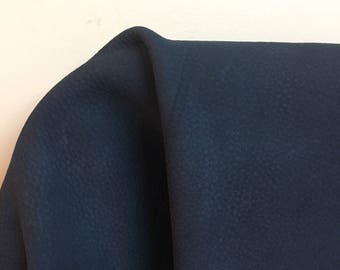 Leather 16 sq.ft full skin Navy Nubuck Smooth Nappa Slippery Cowhide soft craft supply handbag upholstery Nat Leathers