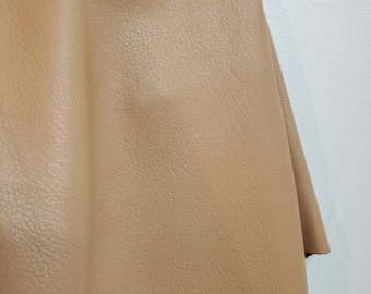 Smooth camel  Cow nappa we have NAT Leathers 19-22 sq.ft soft smooth fullgrain nappa Cow hide cowhide leather skin 2.5 oz 1.2 mm