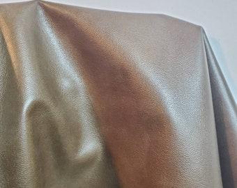 Leather 16-20 sq.ft full skin soft green Khaki avalon 2.0- 2.5 oz  aniline glazed Soft Cow hide craft handbag upholstery Nat Leathers