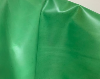 NAT Leathers 15-22 sf Lime chartreuse Green 2.5 oz 1.0-1.2 mm smooth matte cowhide for handbag craft jewelry upholstery footwear