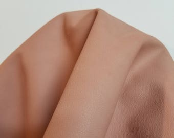 Leather 14-18 sf Blush Pink Coral Pebblegrain hide cowhide skin 2.5 oz 1.2 mm nappa genuine  cow