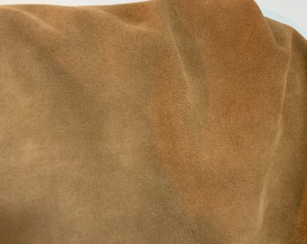 NAT Leathers One of a Kind 9 sf Tanned Suede 2.5 oz 1.0-1.2 mm skin for handbag craft jewelry upholstery footwear