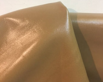 Leather 15.25 sq.ft full skin Tan Smooth Nappa  Cowhide soft craft supply handbag upholstery Nat Leathers at least 58 by 17 in