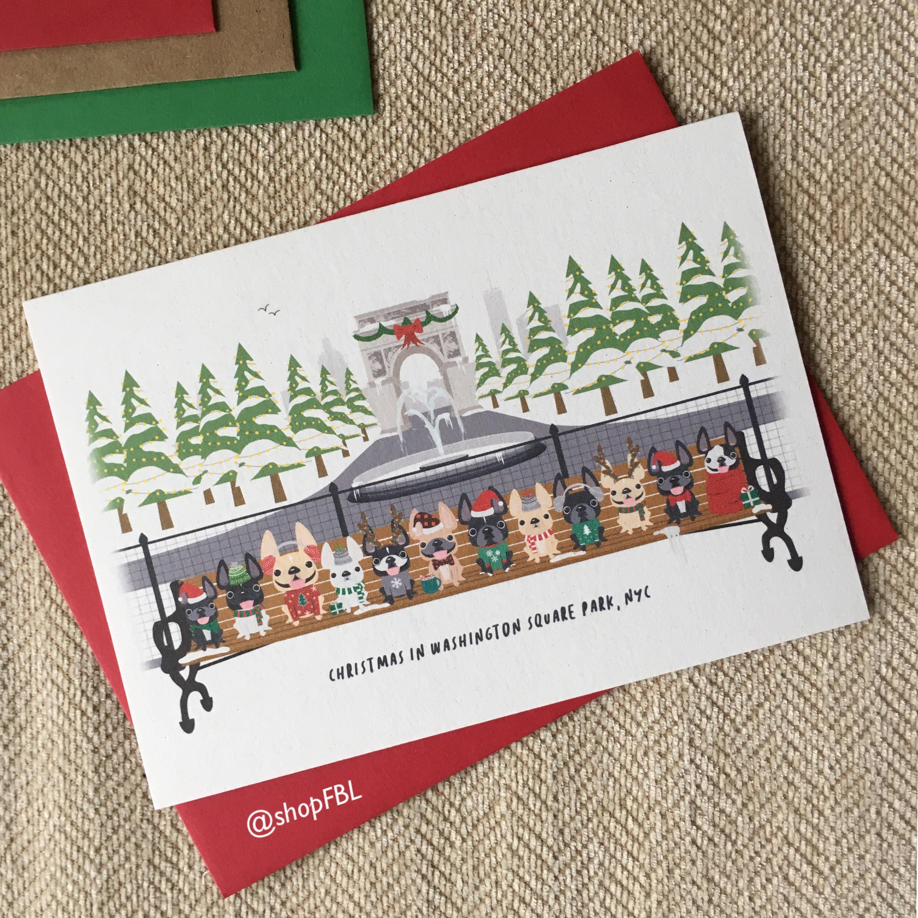 Weihnachten in Washington Square Park NYC handgemachte