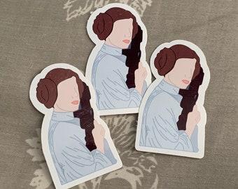 Princess Leia Organa, Star Wars Episode IV A New Hope inspired sticker