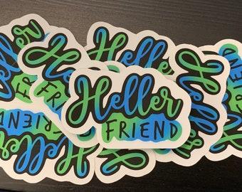 Heller Friend Sticker, Supernatural, Destiel, Dean Winchester, Castiel, SPNfamily