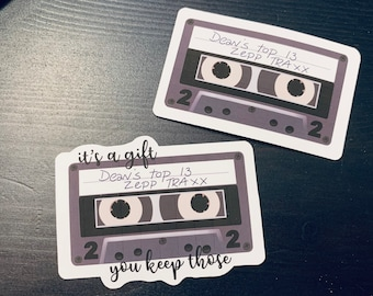 Dean's Top 13 Zepp Traxx Stickers, available with and without quote, Supernatural inspired sticker, Dean Winchester, Castiel, Destiel