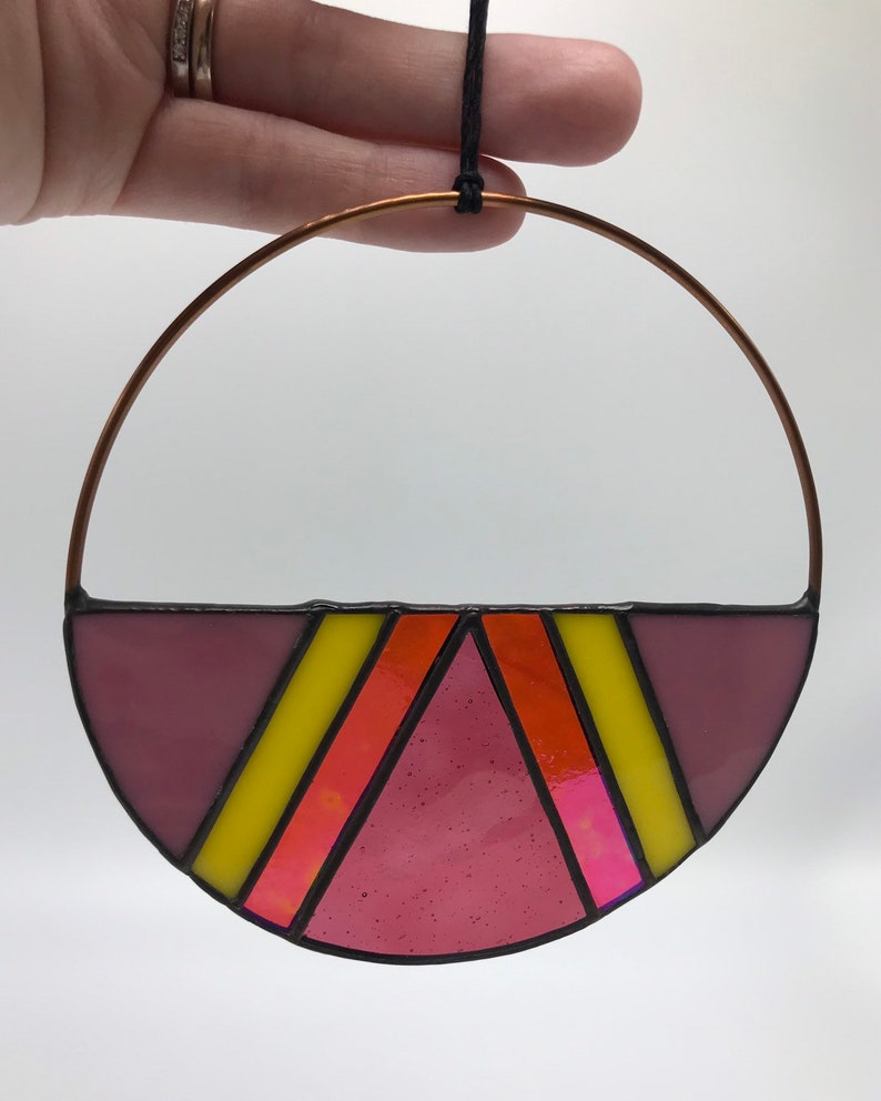 Half Circle Glass Suncatcher image 0