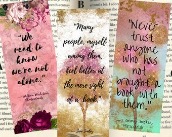 Readers gon read quotes bookmarks