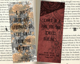 Fictional Vampire Inspired Quotemarks