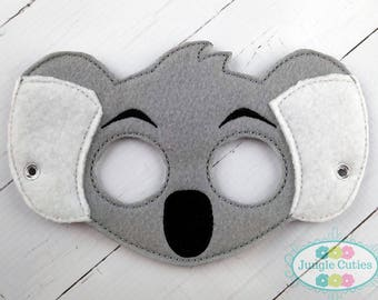 Koala Bear M100 I Kids Mask Dress Up Party Favors Birthday Costume Felt Halloween