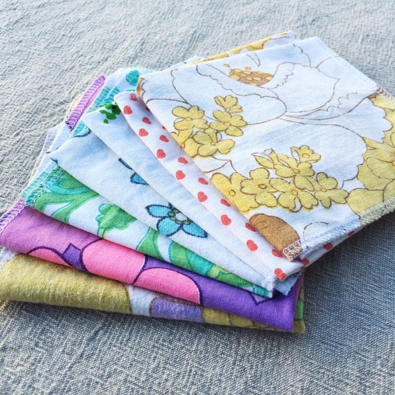 Set of 4 hankerchiefs / napkins / wipes / reusable / image 0