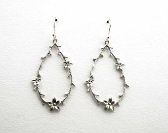 Garland Flower Earrings, Dangle Earrings, Wedding Jewelry, Bridesmaid Jewelry, Graduation Gift