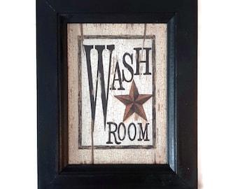 Primitive Decor Bathroom Etsy
