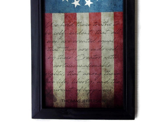 FRAMED Canvas Declaration of Independence by Thomas Jefferson 28x22 Print