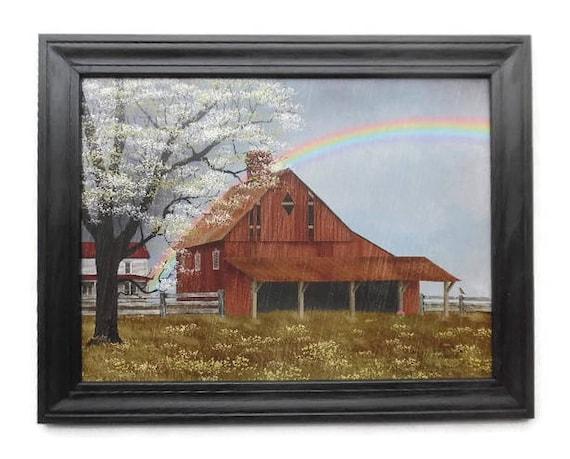 Billy Jacobs Summers End Barn  Art Print 24 x 18