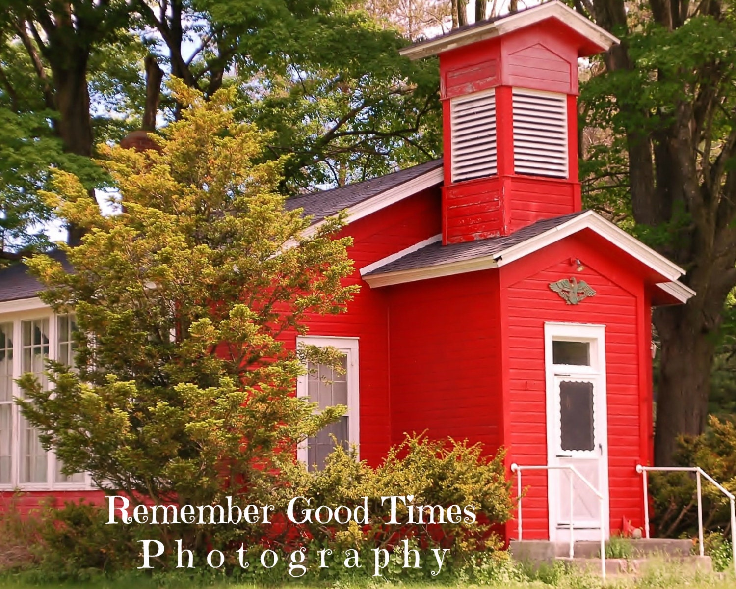 Old Fashioned School House one room red building Wall art ... Old One Room School Building