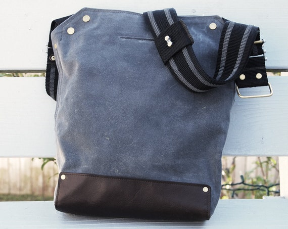 Cycling Messenger Bag Waxed Canvas  Crossbody Bike Bag Leather Cycling Bag Handmade Shoulder Bag Work Bag Cyclist touring bag