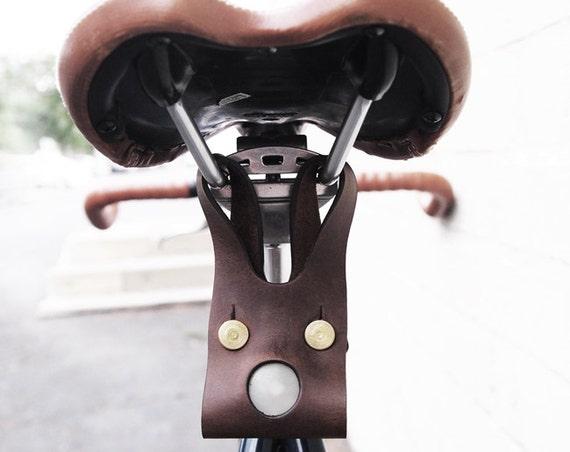 Bike LED light Brown Leather cycling light bike light bike accessories cycling accessories cycling light for cycling gift for bike lover