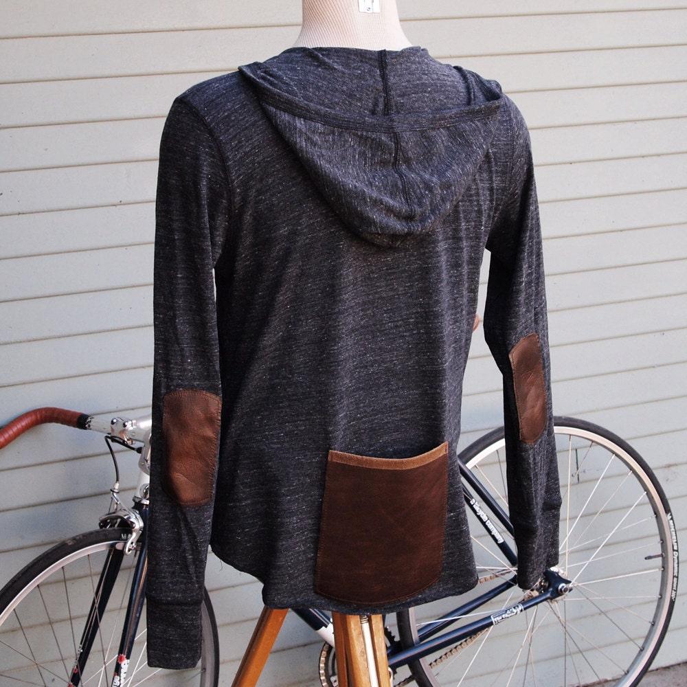Cycling Hoodie 01 (Dark Gray) , Cyclist Clothing, Bike Long Sleeve Tee