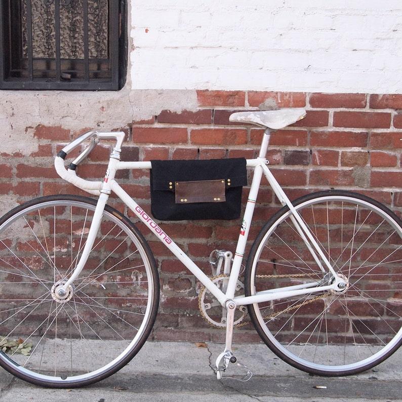 Bike 2 Function Hanging Tote Bag / Bike Tote Bag Black image 0